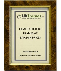 15mm Flat Walnut Gold Frames