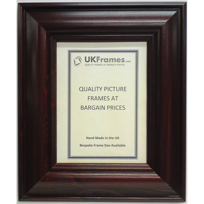65mm mahogany wood frames ukframes buy picture frames for Cheap a frames