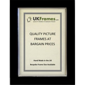 23mm Black with Silver Trim Frames