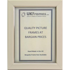 23mm White with Silver Trim Frames